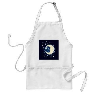 Lullaby Moon Dark Adult Apron