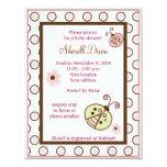 Lullabye Ladybug Mod Girly baby shower invitations