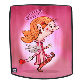 LULU ANGEL CARTOON Adult Backpack Face Only