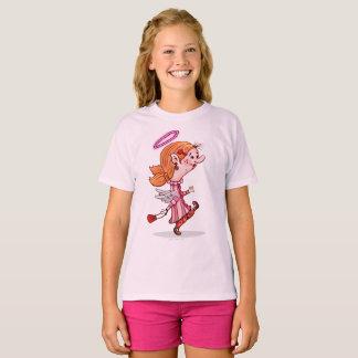 LULU ANGEL Girls' Hanes TAGLESS® T-Shirt