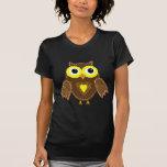 Lulu el búho del leopardo camisetas