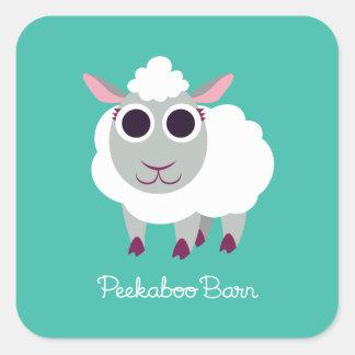 Lulu las ovejas pegatina cuadrada