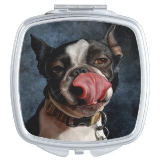 Lulu the Boston Terrier Vanity Mirror