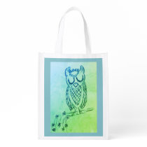 Lulu the Owl Reusable Grocery Bag