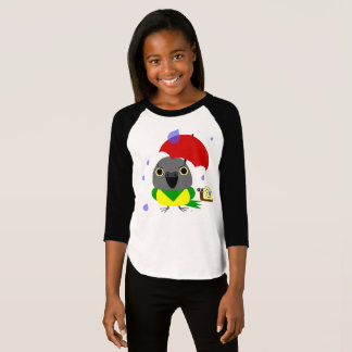 Lulu, the Senegal Parrot, stuck in the rain T-Shirt
