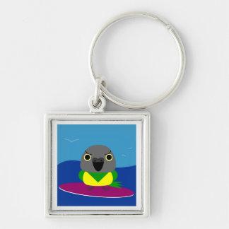 Lulu the Senegal parrot Surfing Keychain