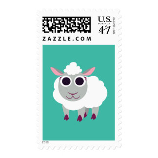 Lulu the Sheep Postage Stamp