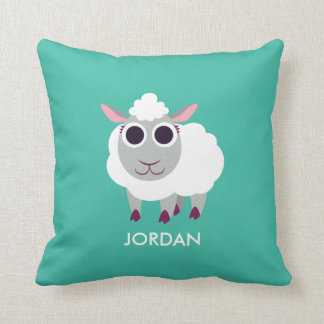 Lulu the Sheep Throw Pillow