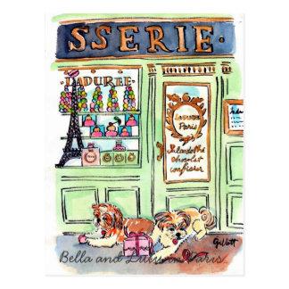 Lulu y Bella van a la postal de París