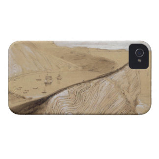 Lulworth Cove (w/c, gouache and graphite on beige iPhone 4 Covers
