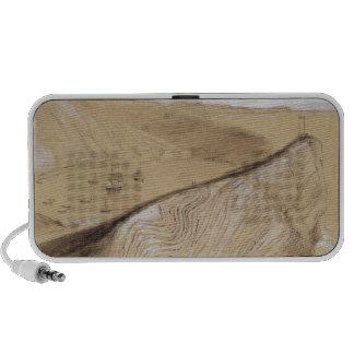 Lulworth Cove (w/c, gouache and graphite on beige Portable Speaker