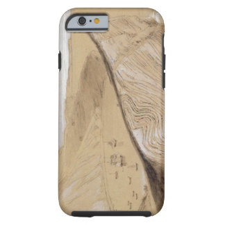 Lulworth Cove (w/c, gouache and graphite on beige Tough iPhone 6 Case