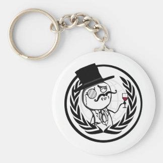 LulzSec Anonymous Logo Basic Round Button Keychain