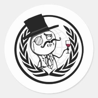 LulzSec Anonymous Logo Classic Round Sticker