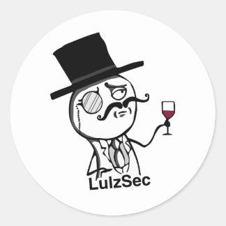 LulzSec Classic Round Sticker