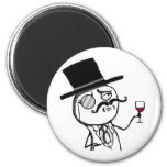 Lulzsec Monocle Guy 2 Inch Round Magnet