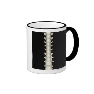 Lumbar and Thoracic Vertebrae Ringer Coffee Mug