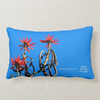 Lumbar cushion red flowers Paraty