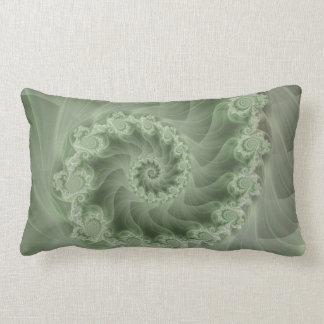 Lumbar espiral verde sedoso de la almohada del cojín lumbar