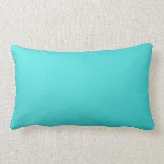 Lumbar llano de la almohada de tiro de la turquesa