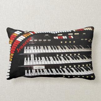 Lumbar Pillow Antique Organ Keyboard Throw Pillow