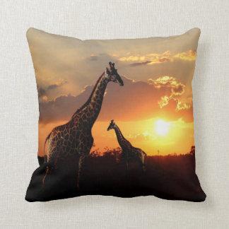 Lumbar Pillow - Giraffes in Africa