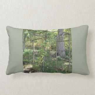 Lumbar pillow greenery