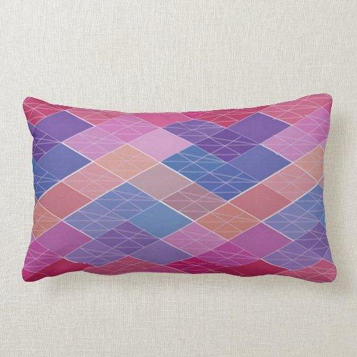Lumbar Pillow Multi-Colored Designer Pillow Zazzle