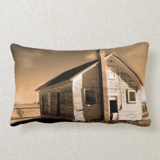 Lumbar pillow vintage old building design