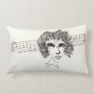 Lumbar pillow with Beethoven and 9th symphony