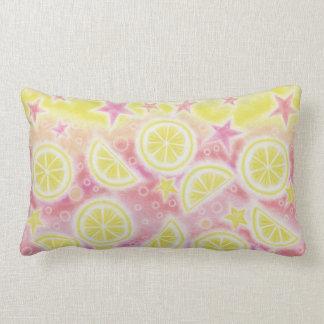 Lumbar rosado de la almohada de tiro de la limonad