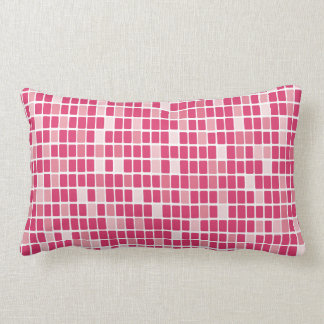 Lumbar rosado del mosaico del rectángulo cojines