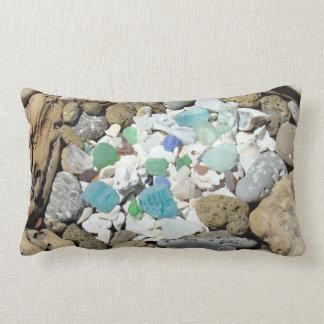 Lumbar Throw Pillow Designer Beach Seashells