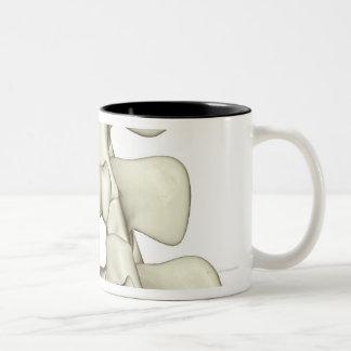 Lumbar Vertebrae Two-Tone Coffee Mug