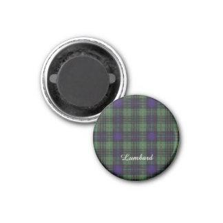 Lumbard clan Plaid Scottish kilt tartan 1 Inch Round Magnet