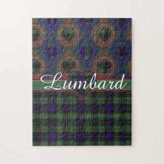 Lumbard clan Plaid Scottish kilt tartan Jigsaw Puzzle