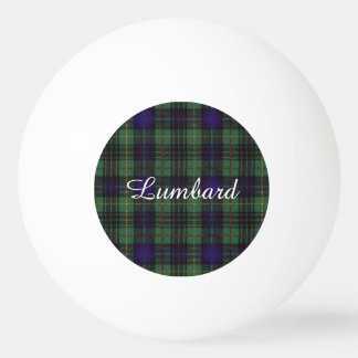 Lumbard clan Plaid Scottish kilt tartan Ping Pong Ball