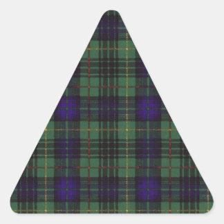 Lumbard clan Plaid Scottish kilt tartan Triangle Sticker