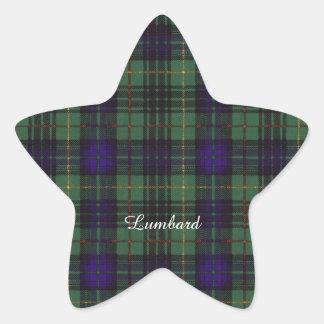 Lumbard clan Plaid Scottish kilt tartan Star Sticker