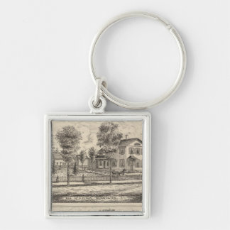 Lumber and Grist Mills in Arlington Vermont Keychain