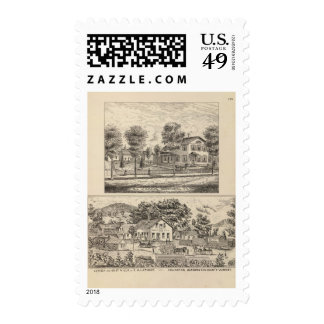 Lumber and Grist Mills in Arlington Vermont Stamp