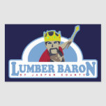 Lumber Baron of Jasper County Rectangular Stickers