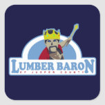 Lumber Baron of Jasper County Square Stickers