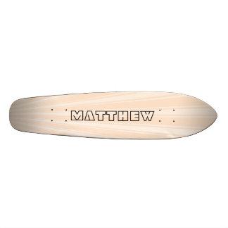 Lumber Color Stripe Funky Pattern Skateboard