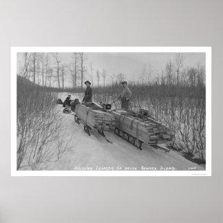 Lumber Dog Seward, Alaska 1917 Poster