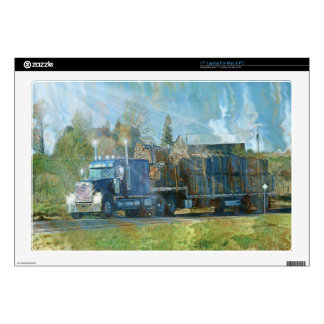 Lumber Freight Truck Transport Skin Decals For Laptops