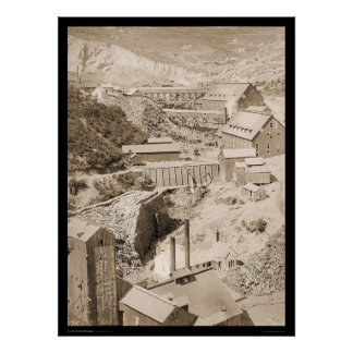 Lumber Mill & Gold Stamp Mill Terraville SD 1888 Poster
