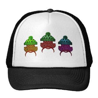 lumber plaid trio trucker hat