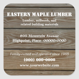 Lumber Promotional Sticker
