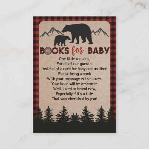 Lumberjack Bear Book Request Card Books For Baby